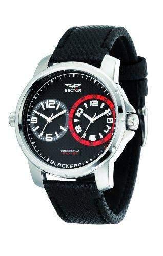 Sector Herren Armbanduhr Compass Analog Quarz Nylon R3251189003