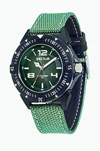 Sector Herren-Armbanduhr EXPANDER 90 Analog Quarz Nylon R3251197033