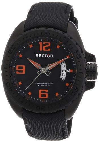 Sector Herren-Armbanduhr Analog Quarz Nylon R3251573002