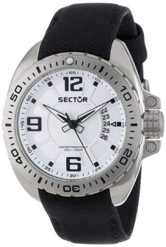 Sector Herren-Armbanduhr XL 600 Analog Quarz Nylon R3251573003