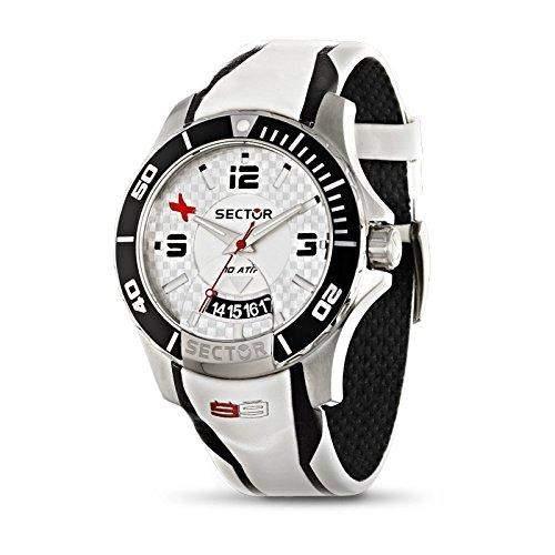 Sector Herren-Armbanduhr S-99 Analog Quarz Leder R3251577001