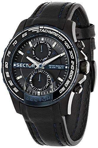 Sector Herren-Armbanduhr Analog Quarz Leder R3251577003