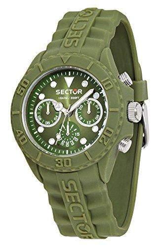 Sector Herren Uhrenbeweger Collection SUB TOUCH Silikon gruen R3251580004