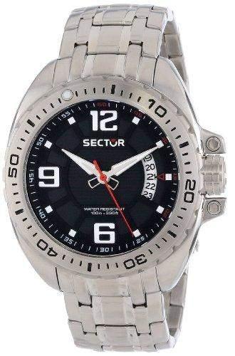 Sector Herren-Armbanduhr XL 600 Analog Quarz Edelstahl R3253573003