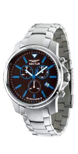 Sector Herren-Armbanduhr Analog Quarz Edelstahl R3273689002