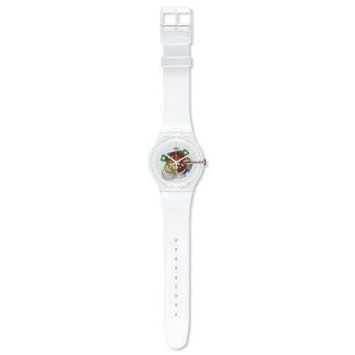 Swatch Herren-Armbanduhr XL Random Ghost Analog Quarz Plastik SUOK111