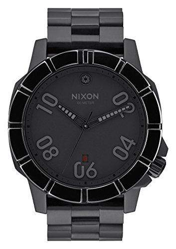Nixon Herren-Armbanduhr Ranger Imperial Pilot Black Analog Quarz Edelstahl A506SW2242-00