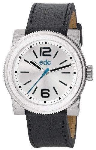 Edc Herren-Armbanduhr XL retro spirit - midnight black Analog Quarz Leder EE100781002