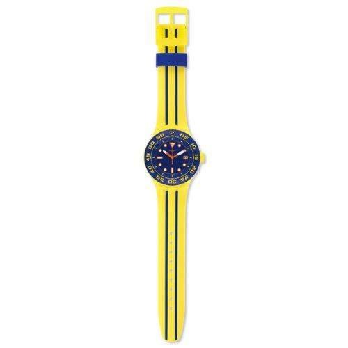 Swatch Herren-Armbanduhr XL Scuba Libre Playero Analog Quarz Silikon SUUJ400