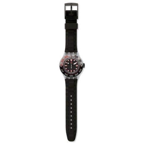 Swatch Herren-Armbanduhr XL Scuba Libre Stormy Analog Quarz Silikon SUUK400