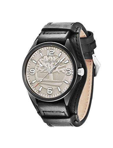 Timberland Herren-Armbanduhr XL Sebbins Analog Quarz Leder TBL14117JSB61