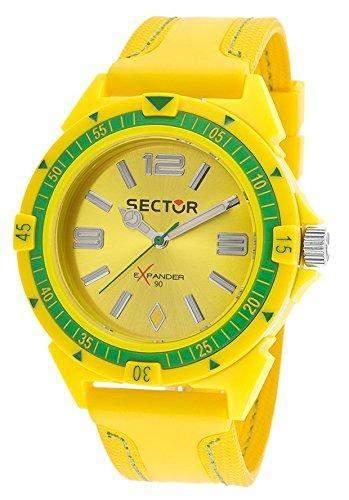 Sector Herren-Armbanduhr XL Analog Quarz Leder R3251197126