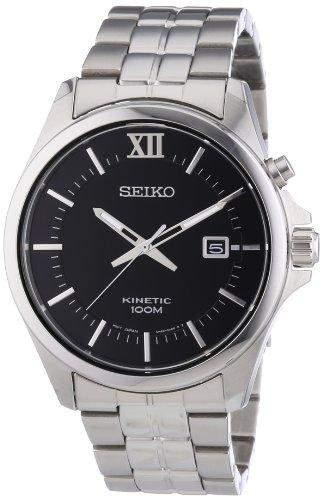 Seiko Herren-Armbanduhr XL Analog Quarz Edelstahl SKA573P1
