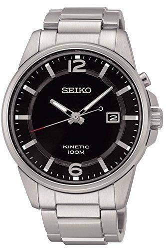 Seiko Kinetic fuer Maenner -Armbanduhr Analog Kinetisch SKA665P1