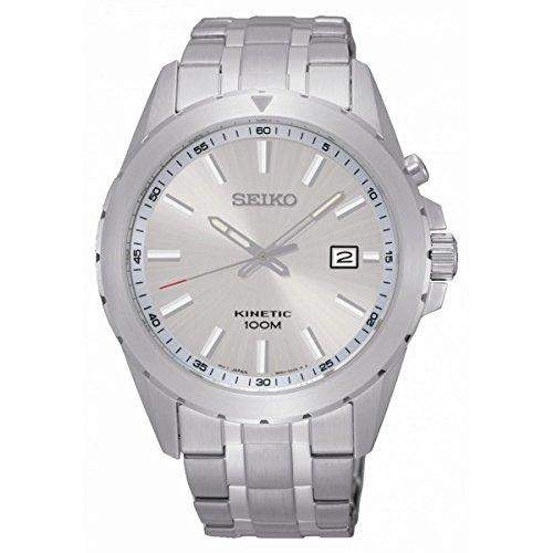 Seiko-ska693p1-Zeigt Herren-Kinetic 1076312Analog Armband Stahl Grau