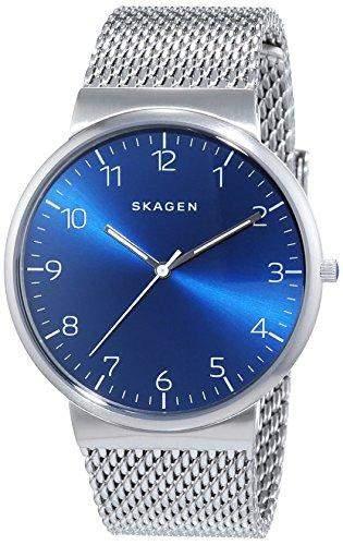 Skagen Herren-Armbanduhr Analog Quarz Edelstahl SKW6164