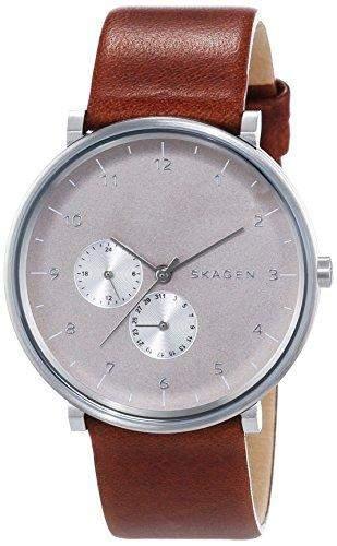 Skagen Herren-Armbanduhr Analog Quarz Leder SKW6168