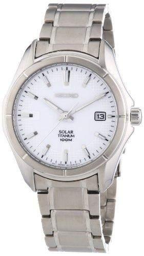 Seiko Herren-Armbanduhr XL Analog Quarz Titan SNE139P1