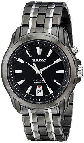Seiko Mens Perpetual Calendar Ion PLated Bracelet Watch SNQ121P9