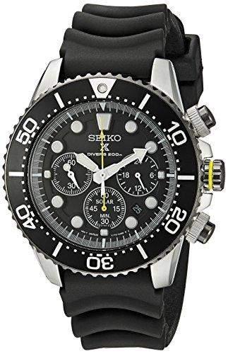 Seiko Herren-Armbanduhr XL Analog Quarz Kautschuk SSC021P1