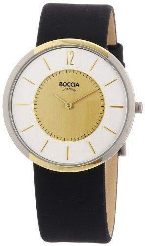 Boccia Damen-Armbanduhr Mit Lederarmband Style 3114-14