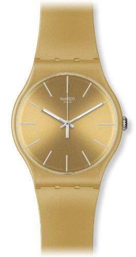 Swatch Herren-Armbanduhr XL New Gent Analog Plastik Golden Rebel SUOZ119