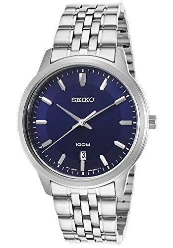 Seiko Quartz fuer Maenner -Armbanduhr Analog Quartz SUR029P1