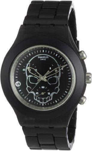 Swatch Herren-Armbanduhr Full-Blooded Black Skull SVCF4001AG