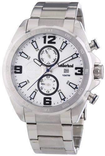 Timberland Herren-Armbanduhr XL Swains Multifunktion Analog Quarz Edelstahl TBL14114JS04M