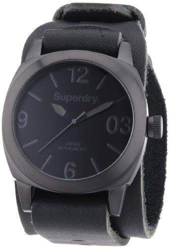 Superdry Herren-Armbanduhr XL Analog Quarz Leder SYG101BB