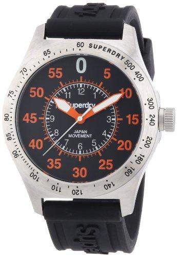 Superdry Herren-Armbanduhr XL Analog Quarz Silikon SYG111E