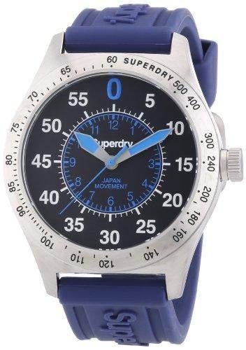 Superdry Herren-Armbanduhr XL Analog Quarz Silikon SYG111U