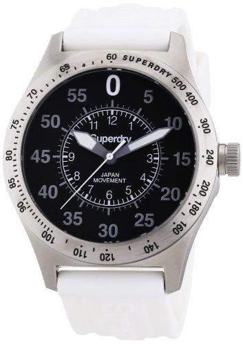 Superdry Herren-Armbanduhr XL Analog Quarz Silikon SYG111W