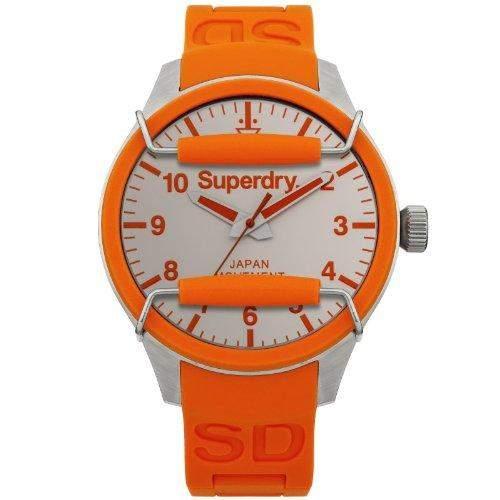 Superdry SYG125O SCUBA SOLAR Uhr Herrenuhr Kautschuk Edelstahl 100m Analog orange