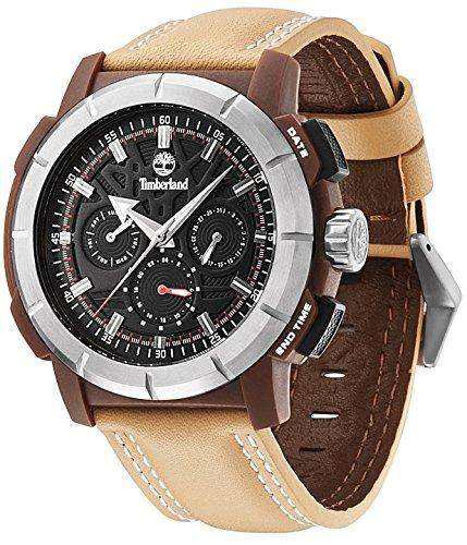 Timberland Herren-Armbanduhr XL EDGEWOOD Analog Leder TBL13325JPBNS-02