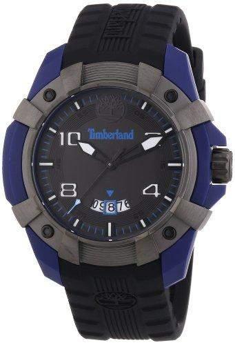 Timberland Herren-Armbanduhr XL Analog Quarz Silikon TBL13326JPBLU61