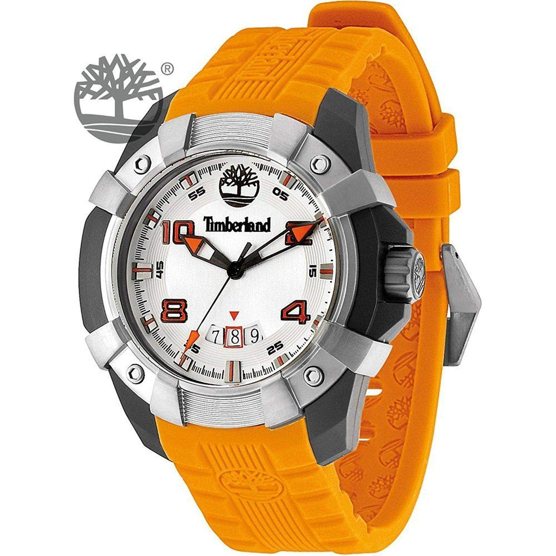 Timberland Herren-Armbanduhr XL Analog Quarz Silikon TBL13326JPBU04