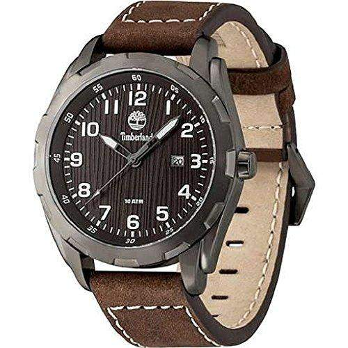 Timberland Herren-Armbanduhr XL Analog Quarz Leder TBL13330XSU12