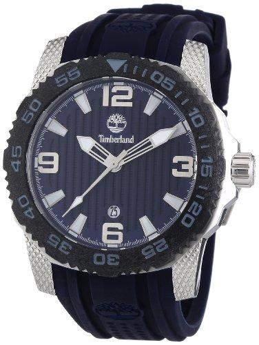 Timberland Herren-Armbanduhr XL Analog Quarz Silikon TBL13613JSSB03