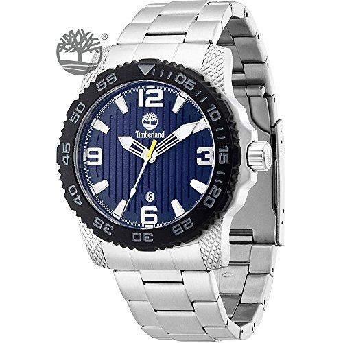 Timberland Herren-Armbanduhr XL Analog Quarz Edelstahl TBL13613JSSB03M