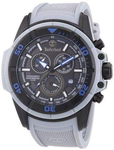 Timberland Herren-Armbanduhr XL Analog Quarz Silikon TBL13671JSB61