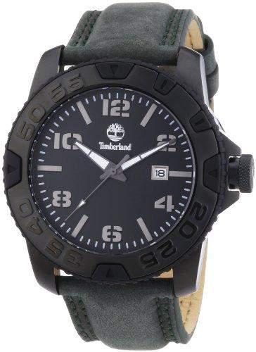 Timberland Herren-Armbanduhr XL Analog Quarz Leder TBL13672JSB02