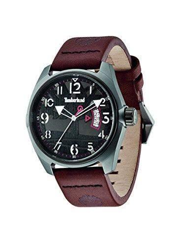 Timberland Herren-Armbanduhr XL Analog Quarz Leder TBL13679JLUB61
