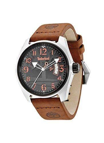 Timberland Herren-Armbanduhr XL Analog Quarz Leder TBL13679JLTB02