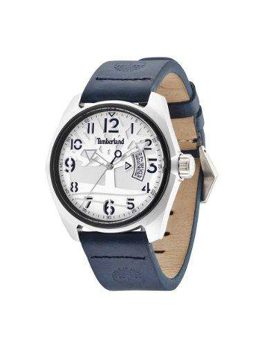Timberland Herren-Armbanduhr XL Analog Quarz Leder TBL13679JLTB04
