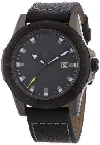 Timberland Herren-Armbanduhr XL Analog Quarz Leder TBL13855JSUB61