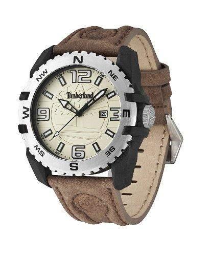 Timberland Herren-Armbanduhr XL Analog Quarz Leder TBL13856JPBS07