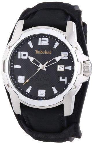 Timberland Herren-Armbanduhr XL Analog Quarz Leder TBL13866JS02