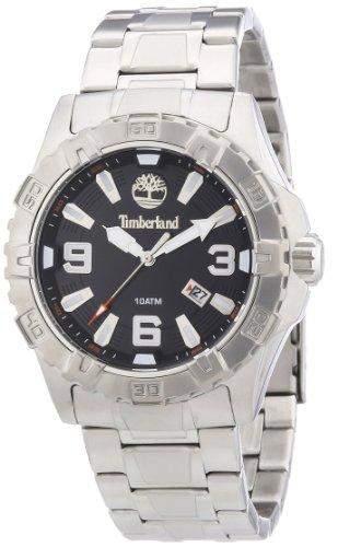 Timberland Herren-Armbanduhr XL Analog Quarz Edelstahl TBL13899JS02M