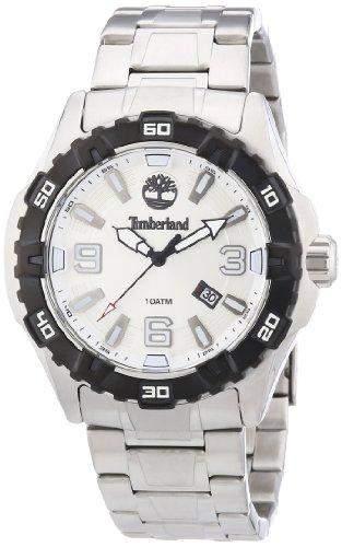 Timberland Herren-Armbanduhr XL Analog Quarz Edelstahl TBL13899JSSB04M
